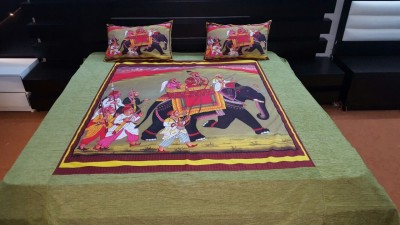 Swastik Traders Cotton Printed Double Bedsheet