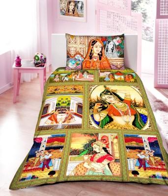 PrintStar Satin Printed Single Bedsheet