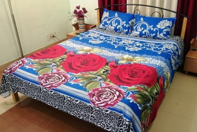 R home Cotton Abstract Double Bedsheet