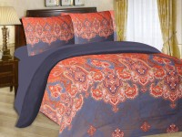 Cadillac Cotton Abstract Queen sized Double Bedsheet(1 Bedsheet, 2 Pillow Covers, Multicolor)