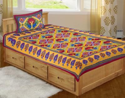 Jaipur Print Market Cotton Printed Single Bedsheet
