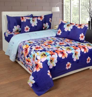 NIRWANA Polycotton Floral Double Bedsheet