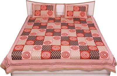 Rama Cotton Floral Double Bedsheet
