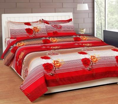 AJ Interio Polycotton Floral Double Bedsheet