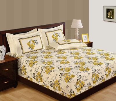 WG Fabs Cotton Printed Double Bedsheet