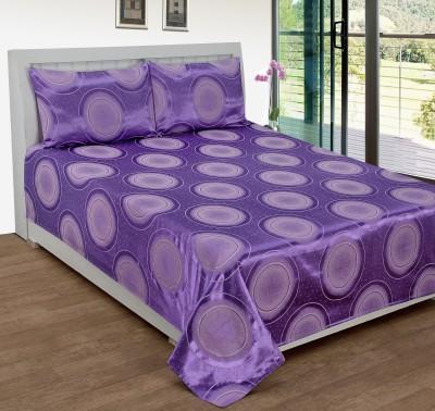 Shivalik Cotton Silk Blend Geometric Double Bedsheet