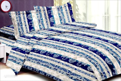 OSTATA Cotton Floral Double Bedsheet