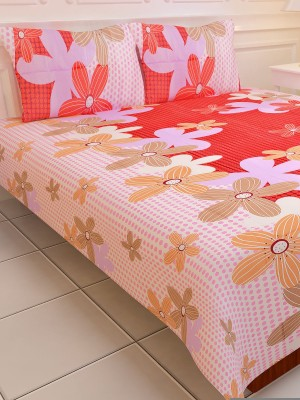 SNS Polyester Striped Double Bedsheet