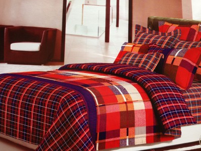 Tima Polycotton Checkered Double Bedsheet