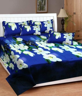 New Home Polycotton Floral Double Bedsheet