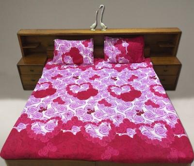 Vibhavari Cotton Floral Queen sized Double Bedsheet
