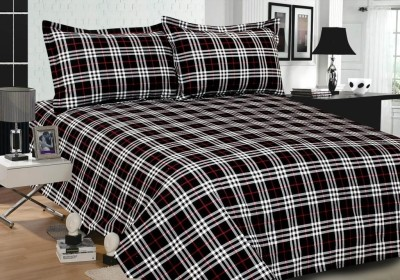 Weaves Cotton Checkered Double Bedsheet