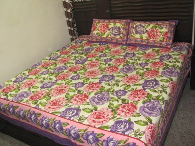 Miracle Furnishings Cotton Floral Double Bedsheet