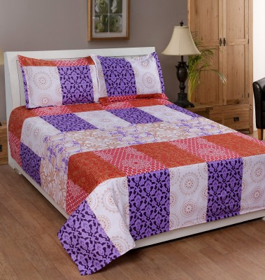 Shivalik Polycotton Abstract King sized Double Bedsheet
