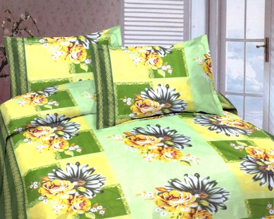 Arch Fab Polyester Floral Double Bedsheet