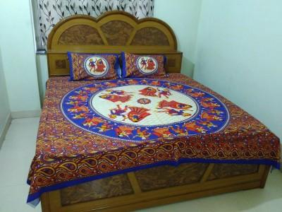 Jaipur Print Market Cotton Printed King sized Double Bedsheet