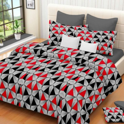 The Sleeping Partner Cotton Abstract Double Bedsheet