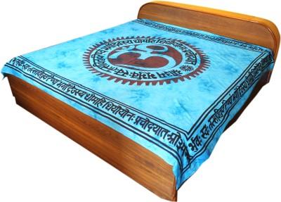 BHATIA HOME DECOR Cotton Text Print Double Bedsheet