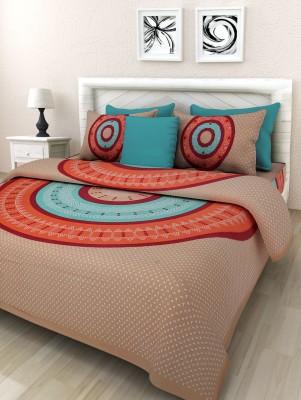 Cotton Handi Clues Cotton Printed Double Bedsheet