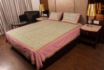 Shreeng Cotton Striped Double Bedsheet
