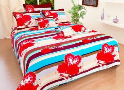 Sanaya Polycotton 3D Printed Double Bedsheet