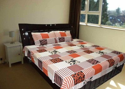 Fabbig Cotton Abstract Single Bedsheet