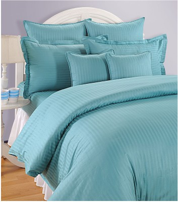Swayam Striped Double Quilts & Comforters Blue