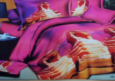 Shopcrats Polycotton Abstract Queen sized Double Bedsheet