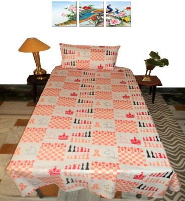 Amita Home Furnishing Cotton Abstract Single Bedsheet