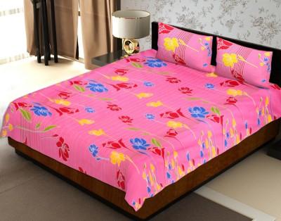 Jaipur Fabric Cotton Floral Double Bedsheet