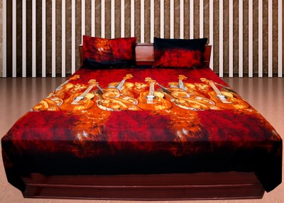 Shoppeholics Cotton Printed Double Bedsheet