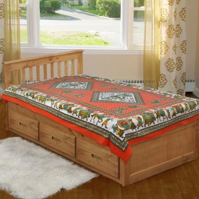 Jaipur Fabric Cotton Floral Single Bedsheet