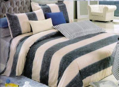 Sanaya Cotton Striped Double Bedsheet