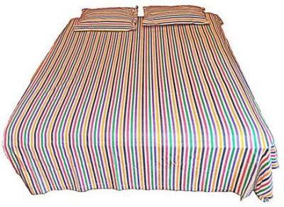 Addyz Cotton Striped Double Bedsheet