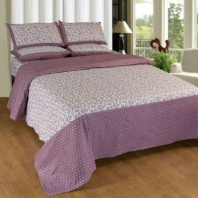 Creativehomes Cotton Printed Double Bedsheet