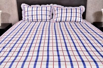 Banana Prints Cotton Checkered Double Bedsheet
