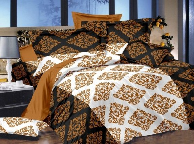 Zigma Collections Cotton Abstract Queen sized Double Bedsheet