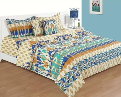 House This Cotton Abstract Single Bedsheet