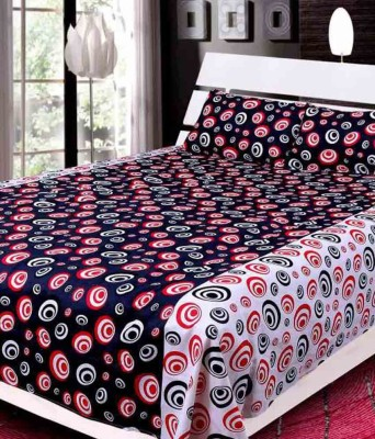 Creativehomes Cotton Geometric Double Bedsheet