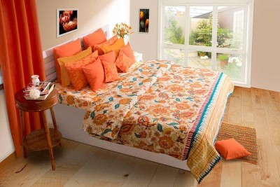 House This Cotton Floral Single Bedsheet