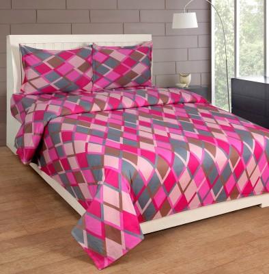 Zesture Cotton Checkered Double Bedsheet