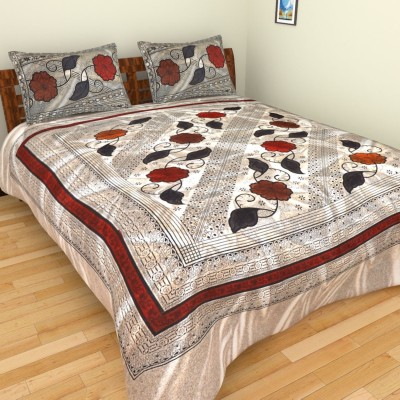 Aone Collection Cotton Floral Double Bedsheet
