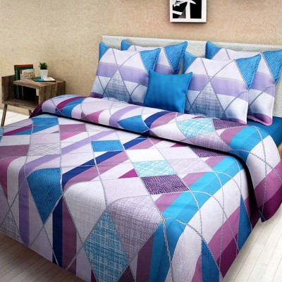 First Row Cotton Abstract King sized Double Bedsheet