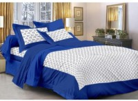 Double bedsheet Cotton Floral King sized Double Bedsheet(1 Double bedsheet with 2 pillow cover, Multicolor)