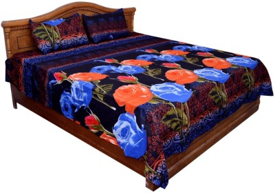 GraceDiva Polycotton Floral Double Bedsheet