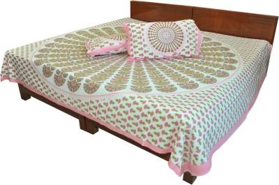 RajLaxmi Cotton Checkered Double Bedsheet