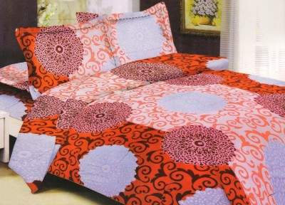 Lectus Cotton Abstract Double Bedsheet