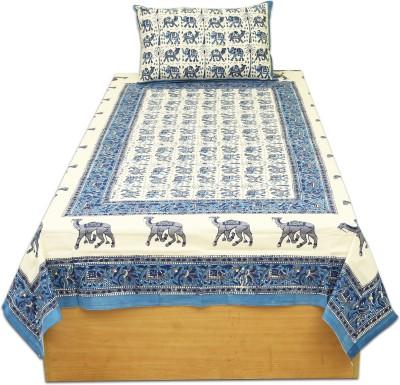 jaipur print Cotton Floral Single Bedsheet