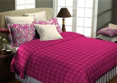Home Bee USA Cotton Checkered Double Bedsheet