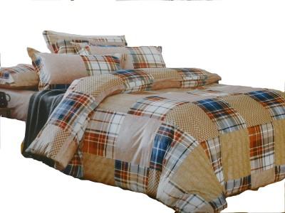 Vg store Velvet Abstract Double Bedsheet